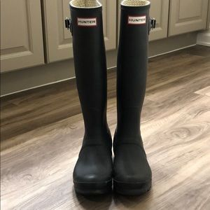 Original Matte black Hunter rain boots